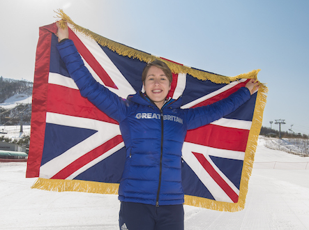 08/02/2018 - Team GB Announce Lizzy Yarnold as their flag bearer for the PyeongChang Winter Olympic Games 2018